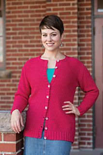 Cotton Classic Strawberry Daiquiri Cardigan pattern by Sara Louise Greer from Love of Knitting Summer 2014 Tahki Yarns Tahki Stacy Charles