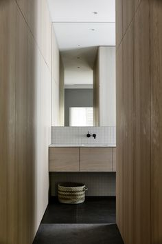 Malvern East House by Rob Kennon Architects – casalibrary Grey Bathrooms, White Bathroom, Modern Bathroom, Small Bathroom, Bathroom Ideas, Contemporary Bathrooms, Bathroom Storage, New Toilet, Inspired Homes