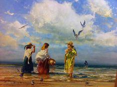 Robert Hagan - Wading_1 - by international artist Robert Hagan - Australian