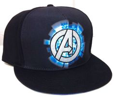 new MARVEL AVENGERS SNAPBACK HAT Black/Dark-Gray-Blue Comic Book Men/Women/Teen #Marvel #BaseballCap