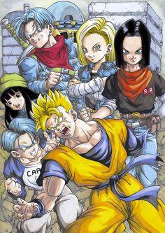 Future Trunks saga by FranFuentesArt on DeviantArt Dragon Ball Z, Fairytail, Anime Dragon, Anime Manga, Anime Art, History Of Manga, Z Warriors, Ball Drawing, Fanart