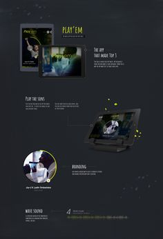 Play Em is a music play for tablets. We designed it from zero and make it look incredible. Maybe this is why the app made Top 3 of tablet music apps.  Art director: Dan Buruiana