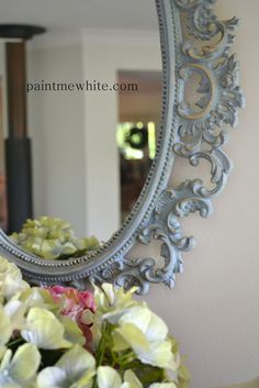 Louis Blue Mirror and Mercury Glass