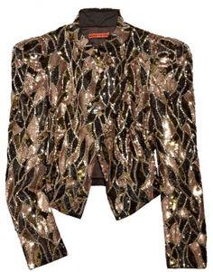 alice + olivia luiza sequin embellished jacket