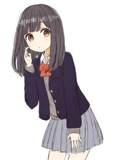 Anime School Girl, Girls Anime, Me Anime, Anime Fairy, Anime Art Girl, Chica Gato Neko Anime, Chica Anime Manga, Anime Chibi, Kawaii Anime