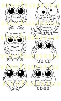16 Trendy how to draw an owl fun - Eule Owl Patterns, Embroidery Patterns, Ribbon Embroidery, Machine Embroidery, Owl Crafts, Owl Art, Cute Owl, Digi Stamps, Art Plastique