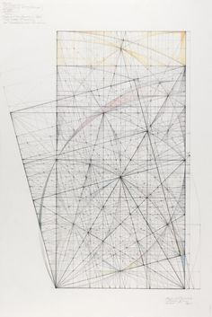 Double Square Series: Roots and Harmonics, 2011, 18 in. x 13.25 in., Graphite and colored pencil on cotton paper