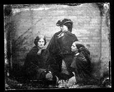 Photograph discovered possibly of the three Bronte sisters, but has not been proven to be so.