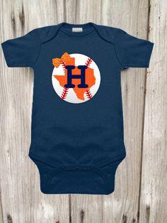 Astros Inspired Bodysuit for Baby Girl