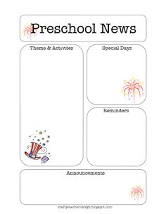 August Printable Newsletter For All Grades Pinterest Crafty - August newsletter template