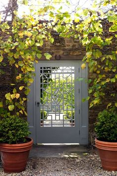 Geometric Gate English Cottage GardensEnglish