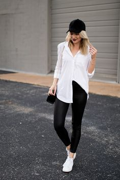 Sporty-chic weekend outfit