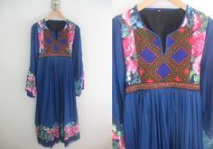 1970s Vintage boho hippy dress floral with by 6thdistrictvintage, £48.00
