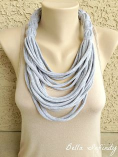 Bella Infinity Wrap Scarf Turquoise Grey by BellaInfinityScarves, $23.00