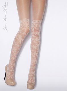 Isn't it Romantic-Lace Tights ($18.00) In Brulee or Black