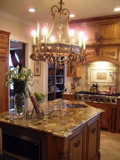 Love the light fixture, definitely putting a chandelier in my kitchen!