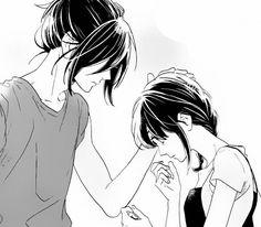 Image about couple in manga, anime by i love clouds Manga Anime, Noragami Anime, Me Anime, Anime Love, Kawaii Anime, Anime Guys, Anime Art, Manga Drawing, Manga Art