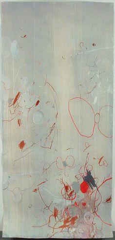 """justanothermasterpiece:  Dragana Crnjak, Flies, Mixed media on paper, 90"""" x 42"""", 2004."""