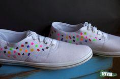 Canvas White Shoes Design: Explosion
