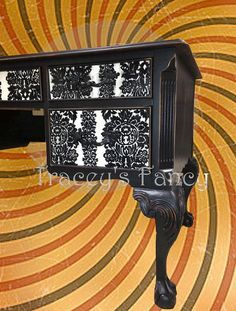 Black Lace  French Provincial Desk MADE TO ORDER by TraceysFancy, $1000.00