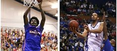 Kansas freshman Josh Jackson, left, and former Jayhawk Xavier Henry, right, joined the Kansas basketball program under very similar situations during their time in Lawrence.