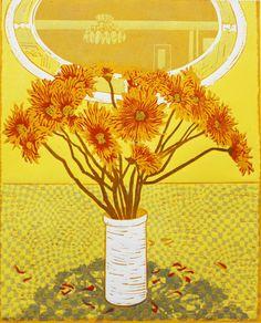 """""""Chrysanthemums"""" by Olwen Jones"""