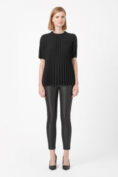 COS   Raw-edge pleated top