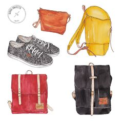 2015 - Watercolor illustrations for Coyote bags 1a2560b51c247