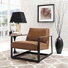 Seg Upholstered Vinyl Accent Chair | Contemporary & Modern Furniture | LexMod