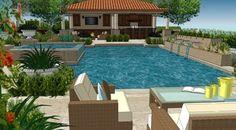 AMS - Assorted 3D Renderings - Outdoor Living - mediterranean - Drawings - Orange County - AMS Landscape Design Studios, Inc.