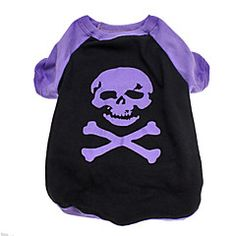 Dog Shirt / T-Shirt Black Dog Clothes Spring/Fall Skulls