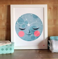 Supermoon  Modern Nursery Art Print  Kids Room  by cloudandcream, $20.00