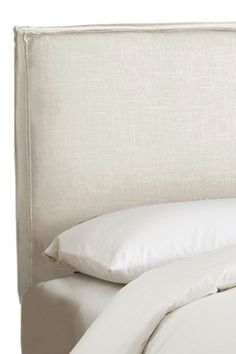 Understated with style---French Seam Slipcover Headboard - Linen Talc