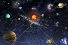 Solar System - Fotobehang & Behang - Photowall