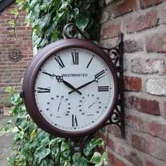 double sided station outdoor clock