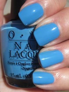OPI - No Room for the Blues... have this on my toes right now!!!