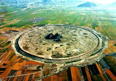 Darabgard Ancient Round Town, (2600 years old) Fars Province, Iran, Geographical position: N284120 E542845, Credit: irandeserts.com
