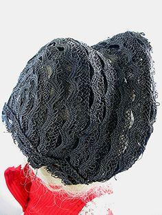 Antique Horsehair Bonnet Hat Victorian 1800s by bonitalouise