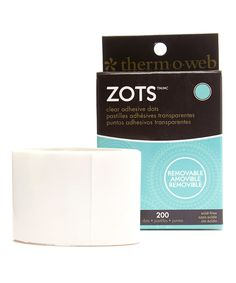 Take a look at this 200-Ct. Zots Clear Removable Medium Dots - Set of Three today!