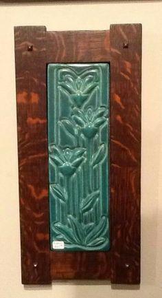 Arts & Crafts - Craftsman - Quartersawn Oak Frame - Pewabic Pottery Tile