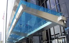 Stainless steel entrance canopy (glass cover) Couturier Iron Craft