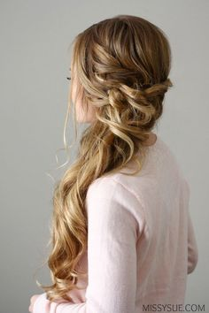 New Years Eve is nearly here and this side swept dutch braid would be the perfect party look! Whether you're going out to dinner with that special someone or dancing the night away, this look is glamo