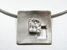 Zandstorm: Zilveren hanger [werk cursist] (Art Clay Silver,hangers)