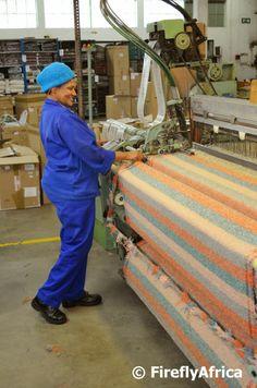 Mohair weaving in Uitenhage, PE