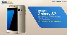 Samsung Galaxy S7 Edge 32 GB in Rs.50,899/-| Elegant design | Superb cameras | Waterproof and dust proof .  Buy Now! #samsungmobiles #samsunggalaxy
