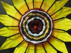 A fun way to combine weaving and Van Gogh's Sunflowers :)