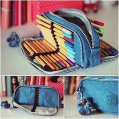 Make your own DIY pencil pouch or pencil case! Pencil Bags, Pencil Pouch, Diy Pencil Case, Best Pencil Case, Tumblr Pencil Case, Pencil Case Pattern, Pencil Case Tutorial, Large Pencil Case, Diy Sac