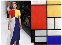 New York Fashion Week Spring 2012: Ronaldus Shamask, the 1987 Council of Fashion Designers of America menswear winner, reinterpreted Dutch De Stijl painter Piet Mondrians minimalist grid-based art for the look that closed his first runway show in a decade.