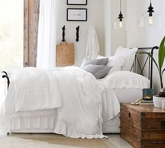 Loleta Iron Sleigh Bed #potterybarn