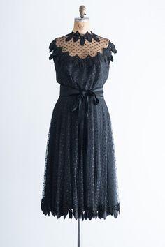 1960's Designer Werle Beverly Hills Swiss Dot Dress - M/L